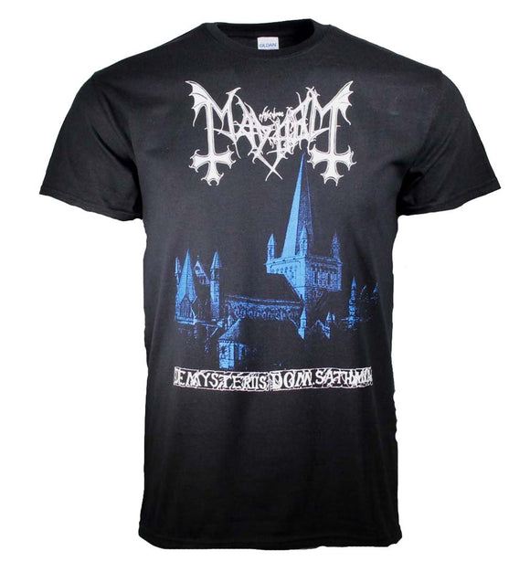 Mayhem De Mysteriis Dom Sathanas Blue Print T-Shirt - shop.AxeDr.com - Best Band T-Shirts, Vintage Rock and Roll T Shirts, Metal Band T-Shirts, Punk T Shirts - Men's T-Shirts