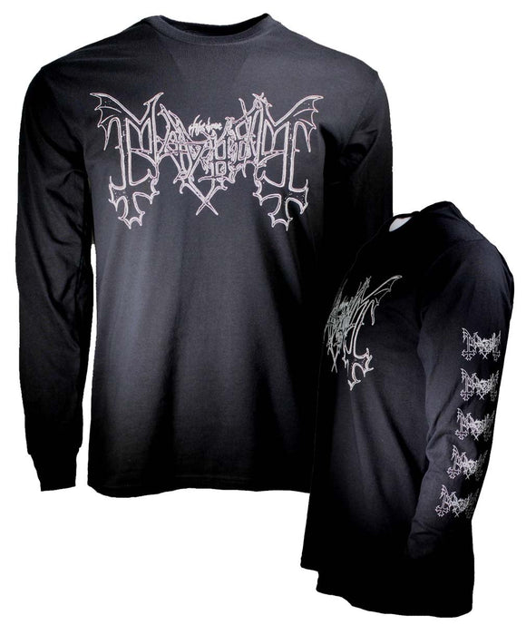 Mayhem Logo Long Sleeve T-Shirt - shop.AxeDr.com - Best Band T-Shirts, Vintage Rock and Roll T Shirts, Metal Band T-Shirts, Punk T Shirts - Men's T-Shirts