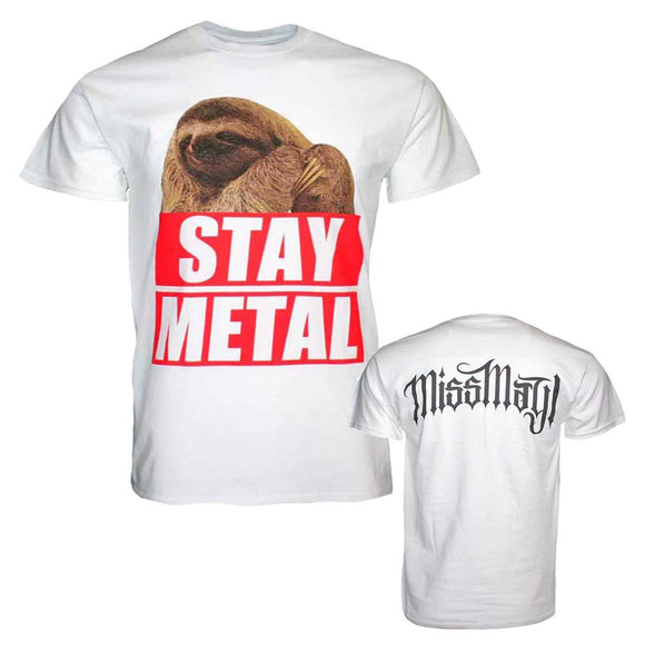 Miss May I Stay Metal Sloth T-Shirt - shop.AxeDr.com - Best Band T-Shirts, Vintage Rock and Roll T Shirts, Metal Band T-Shirts, Punk T Shirts - Men's T-Shirts