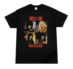 Motley Crue Panels T-Shirt - shop.AxeDr.com - Best Band T-Shirts, Vintage Rock and Roll T Shirts, Metal Band T-Shirts, Punk T Shirts - Men's T-Shirts