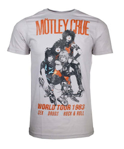 Motley Crue Vintage-Inspired World Tour 1983 T-Shirt - shop.AxeDr.com - Best Band T-Shirts, Vintage Rock and Roll T Shirts, Metal Band T-Shirts, Punk T Shirts - Men's T-Shirts