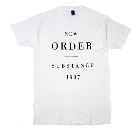 New Order Substance 1987 T-Shirt - shop.AxeDr.com - Best Band T-Shirts, Vintage Rock and Roll T Shirts, Metal Band T-Shirts, Punk T Shirts - Men's T-Shirts
