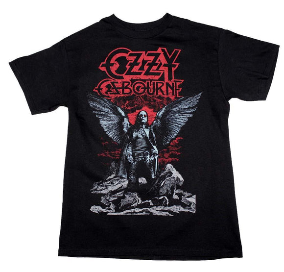 Ozzy Osbourne Angel Wings T-Shirt - shop.AxeDr.com - Best Band T-Shirts, Vintage Rock and Roll T Shirts, Metal Band T-Shirts, Punk T Shirts - Men's T-Shirts