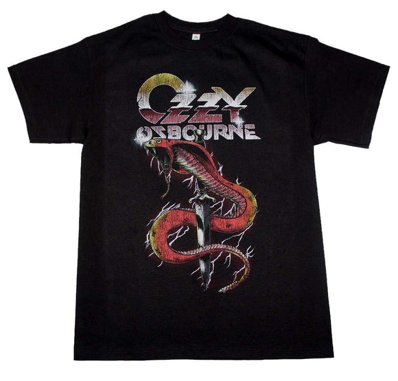 Ozzy Osbourne Vintage Snake T-Shirt - shop.AxeDr.com - Best Band T-Shirts, Vintage Rock and Roll T Shirts, Metal Band T-Shirts, Punk T Shirts - Men's T-Shirts