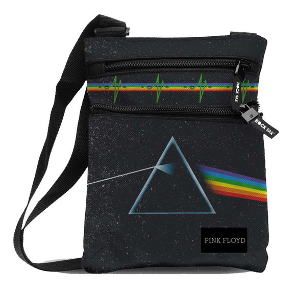 Pink Floyd Dark Side Of The Moon Body Bag - shop.AxeDr.com - Best Band T-Shirts, Vintage Rock and Roll T Shirts, Metal Band T-Shirts, Punk T Shirts - Messenger Bags