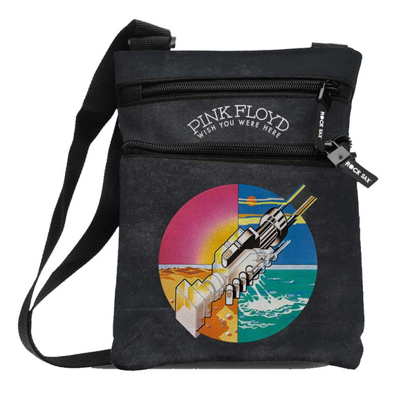 Pink Floyd Wish You Were Here Body Bag - shop.AxeDr.com - Best Band T-Shirts, Vintage Rock and Roll T Shirts, Metal Band T-Shirts, Punk T Shirts - Messenger Bags