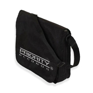 Priority Records Flap Top Vinyl Record Bag - shop.AxeDr.com - Best Band T-Shirts, Vintage Rock and Roll T Shirts, Metal Band T-Shirts, Punk T Shirts - Messenger Bags