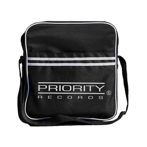 Priority Records Zip Top Vinyl Record Bag - shop.AxeDr.com - Best Band T-Shirts, Vintage Rock and Roll T Shirts, Metal Band T-Shirts, Punk T Shirts - Messenger Bags