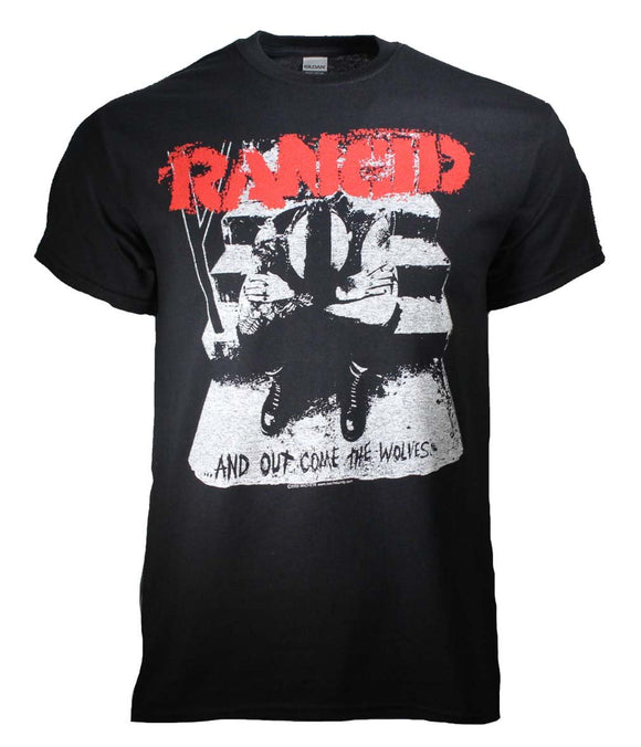 Rancid And Out Come the Wolves T-Shirt - shop.AxeDr.com - Best Band T-Shirts, Vintage Rock and Roll T Shirts, Metal Band T-Shirts, Punk T Shirts - Men's T-Shirts