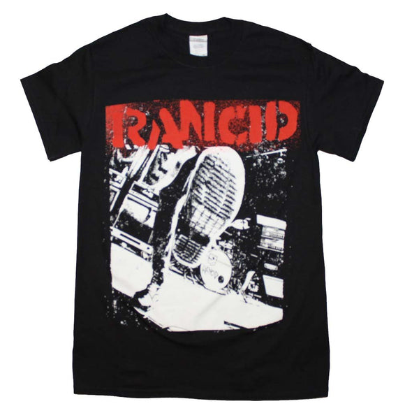 Rancid Boot T-Shirt - shop.AxeDr.com - Best Band T-Shirts, Vintage Rock and Roll T Shirts, Metal Band T-Shirts, Punk T Shirts - Men's T-Shirts