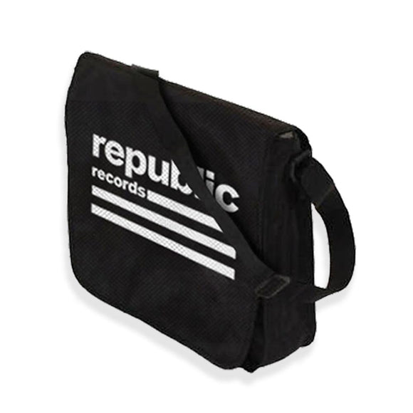 Republic Records Flap Top Vinyl Record Bag - shop.AxeDr.com - Best Band T-Shirts, Vintage Rock and Roll T Shirts, Metal Band T-Shirts, Punk T Shirts - Messenger Bags