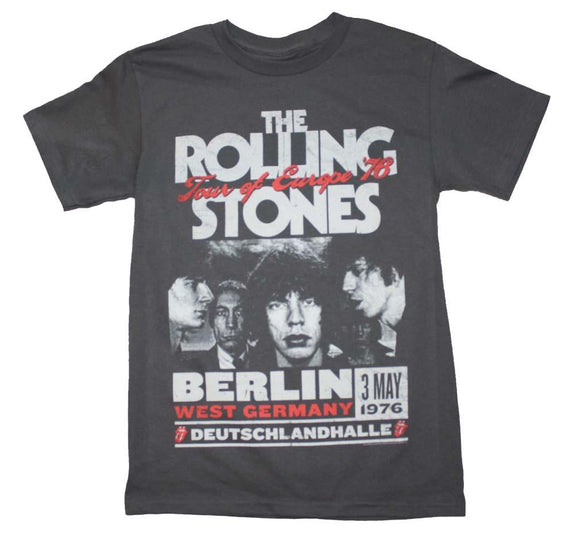 Rolling Stones Europe 76 Tour T-Shirt - shop.AxeDr.com - Best Band T-Shirts, Vintage Rock and Roll T Shirts, Metal Band T-Shirts, Punk T Shirts - Men's T-Shirts