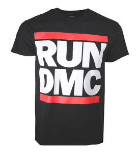 Run DMC Logo Black T-Shirt - shop.AxeDr.com - Best Band T-Shirts, Vintage Rock and Roll T Shirts, Metal Band T-Shirts, Punk T Shirts - Men's T-Shirts