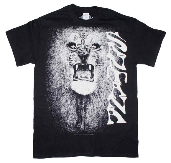 Santana White Lion T-Shirt - shop.AxeDr.com - Best Band T-Shirts, Vintage Rock and Roll T Shirts, Metal Band T-Shirts, Punk T Shirts - Men's T-Shirts