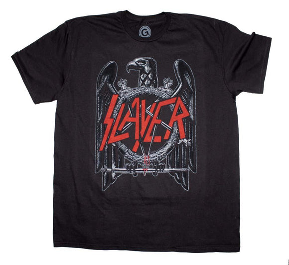 Slayer Black Eagle T-Shirt - shop.AxeDr.com - Best Band T-Shirts, Vintage Rock and Roll T Shirts, Metal Band T-Shirts, Punk T Shirts - Men's T-Shirts