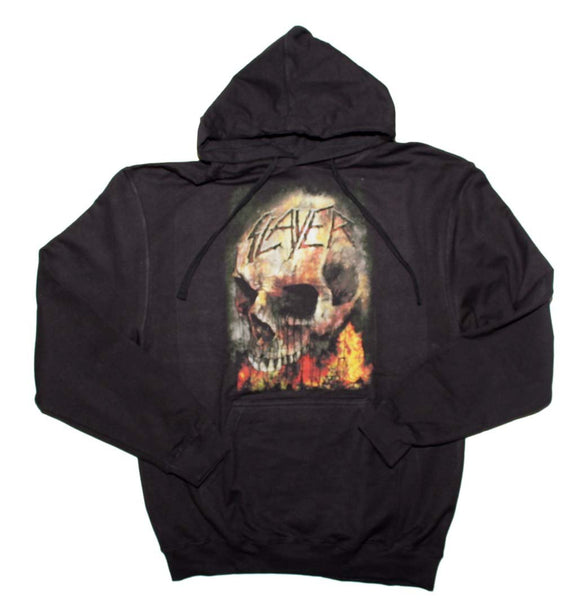 Slayer Fire Skull Hoodie Sweatshirt - shop.AxeDr.com - Best Band T-Shirts, Vintage Rock and Roll T Shirts, Metal Band T-Shirts, Punk T Shirts - Men's Sweatshirts