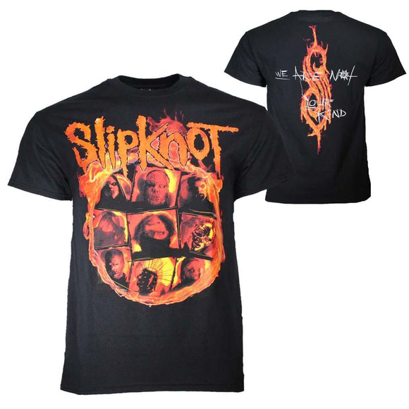 Slipknot We Are Not Your Kind Fire T-Shirt - shop.AxeDr.com - Best Band T-Shirts, Vintage Rock and Roll T Shirts, Metal Band T-Shirts, Punk T Shirts - Men's T-Shirts
