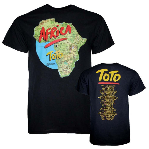 Toto Africa Tour T-Shirt - shop.AxeDr.com - Best Band T-Shirts, Vintage Rock and Roll T Shirts, Metal Band T-Shirts, Punk T Shirts - Men's T-Shirts