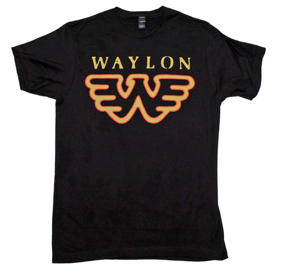 Waylon Jennings Flying W T-Shirt - shop.AxeDr.com - Best Band T-Shirts, Vintage Rock and Roll T Shirts, Metal Band T-Shirts, Punk T Shirts - Men's T-Shirts
