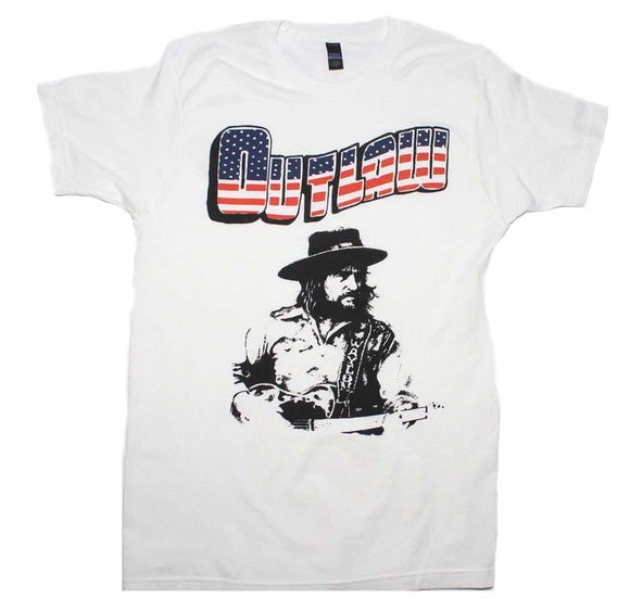 Waylon Jennings Outlaw T-Shirt - shop.AxeDr.com - Best Band T-Shirts, Vintage Rock and Roll T Shirts, Metal Band T-Shirts, Punk T Shirts - Men's T-Shirts