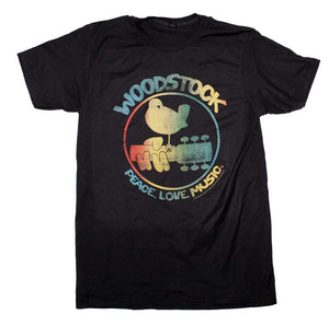 Woodstock Colorful Logo T-Shirt - shop.AxeDr.com - Best Band T-Shirts, Vintage Rock and Roll T Shirts, Metal Band T-Shirts, Punk T Shirts - Men's T-Shirts