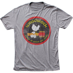 Woodstock Logo Triblend T-Shirt - shop.AxeDr.com - Best Band T-Shirts, Vintage Rock and Roll T Shirts, Metal Band T-Shirts, Punk T Shirts - Men's T-Shirts