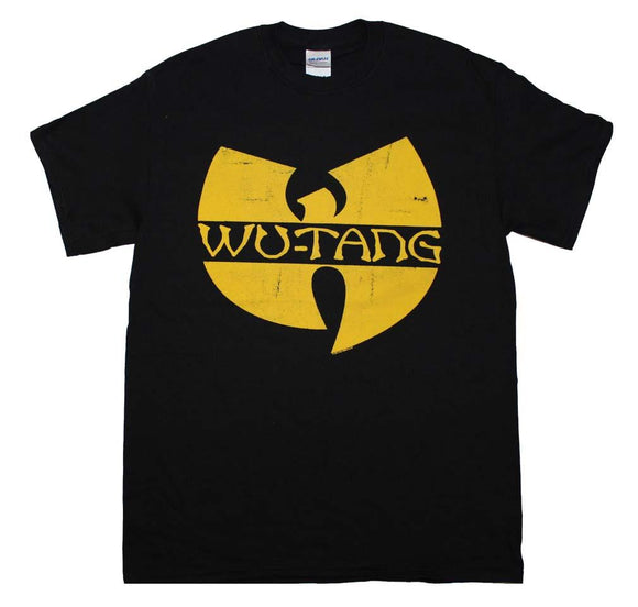 Wu Tan Clan Classic Yellow Logo T-Shirt - shop.AxeDr.com - Best Band T-Shirts, Vintage Rock and Roll T Shirts, Metal Band T-Shirts, Punk T Shirts - Men's T-Shirts
