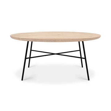 Table basse ronde en chêne - Disc