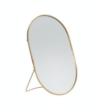 Miroir de table oval en laiton