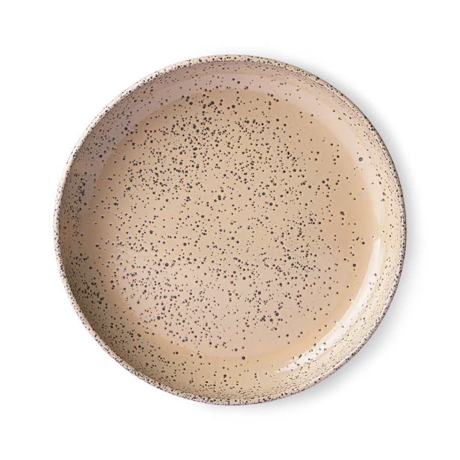 Assiette creuse taupe