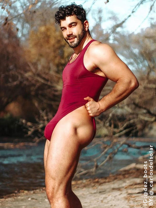 Men's Bodysuit - Plum
