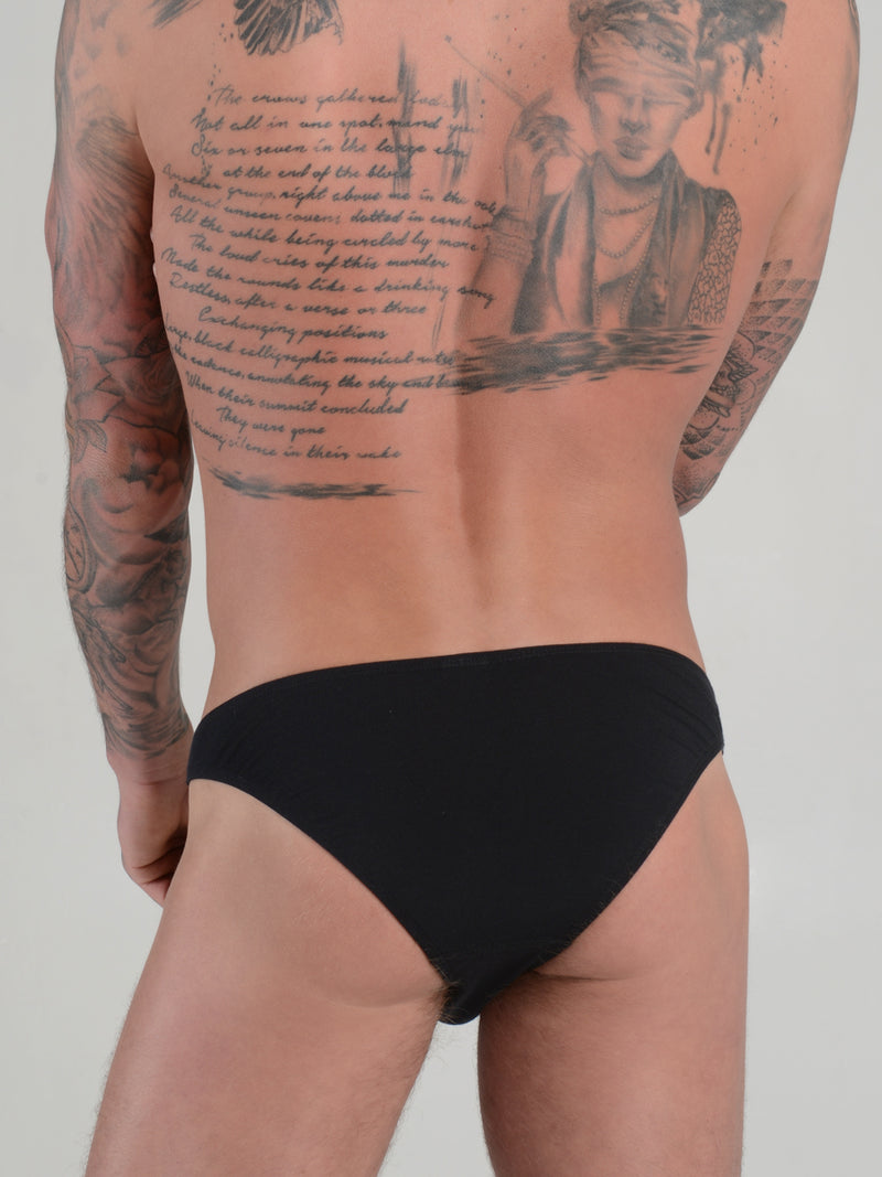 men's black modal bikini briefs