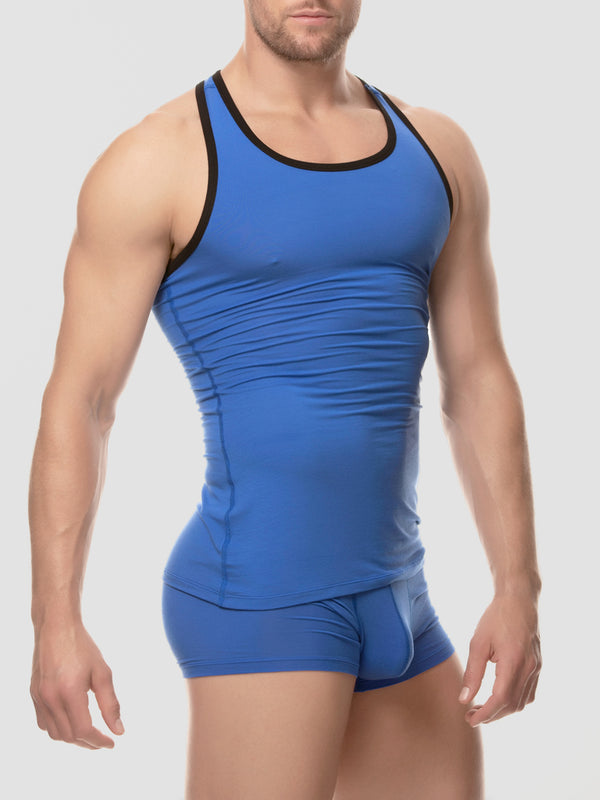 Men's blue modal tank top