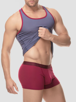 Men's Tank Top - Slate/Plum