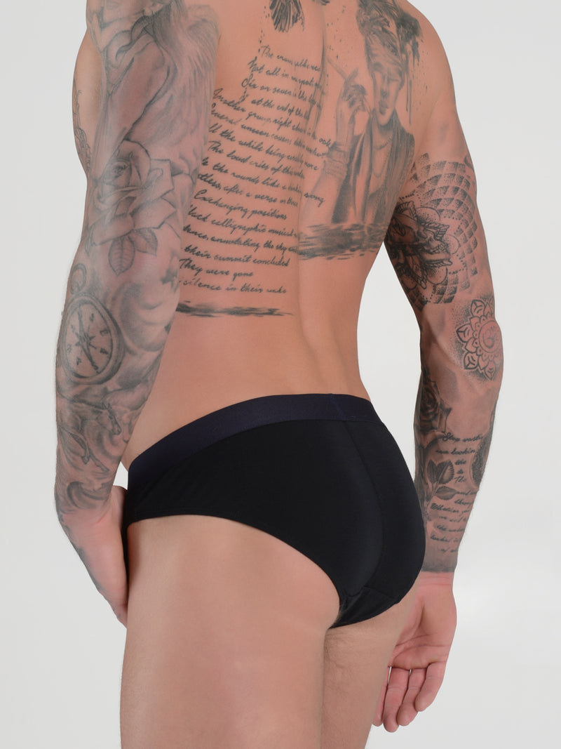 men's black modal logo band briefs