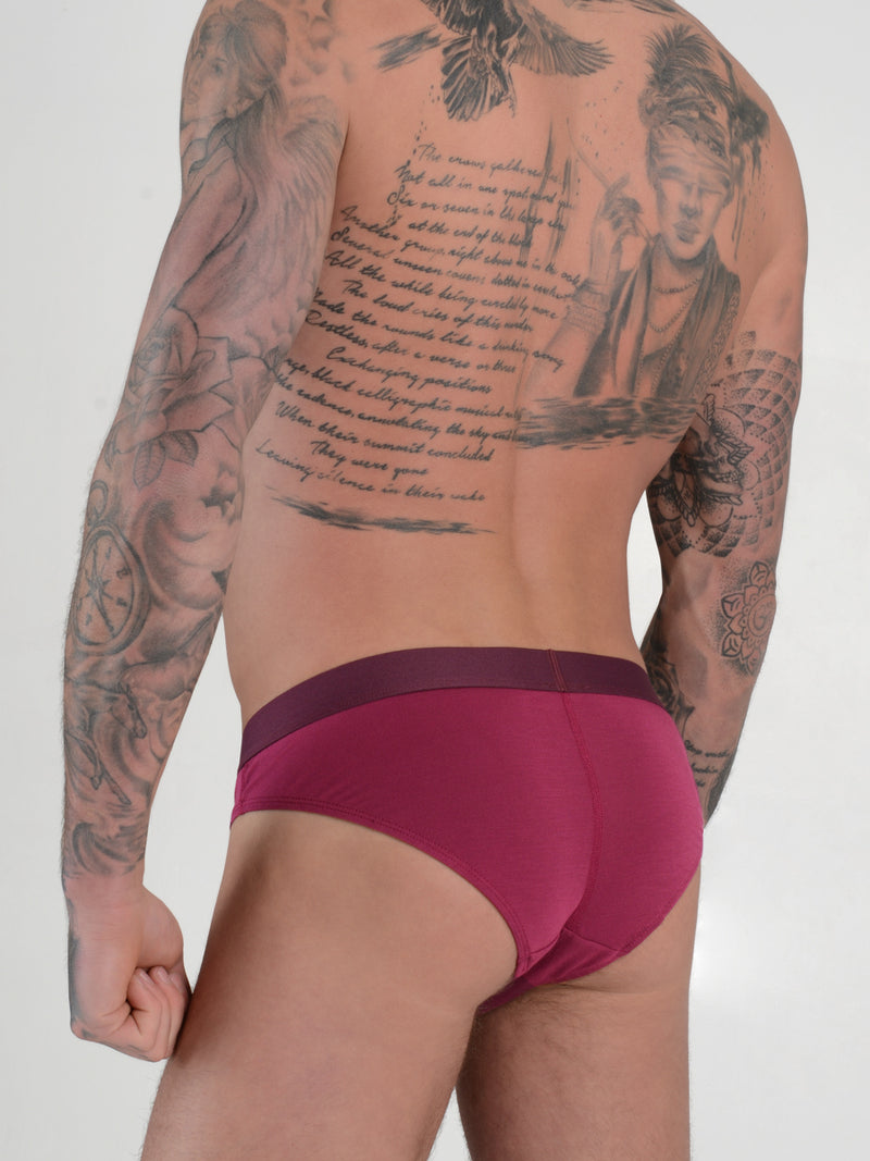 men's red modal logo band briefs
