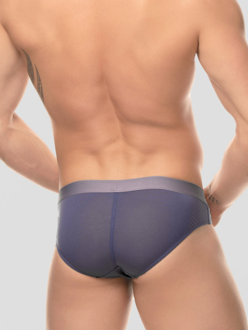 Men's Logo Band Briefs - Slate