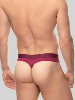 men's red modal logo band thong underwear