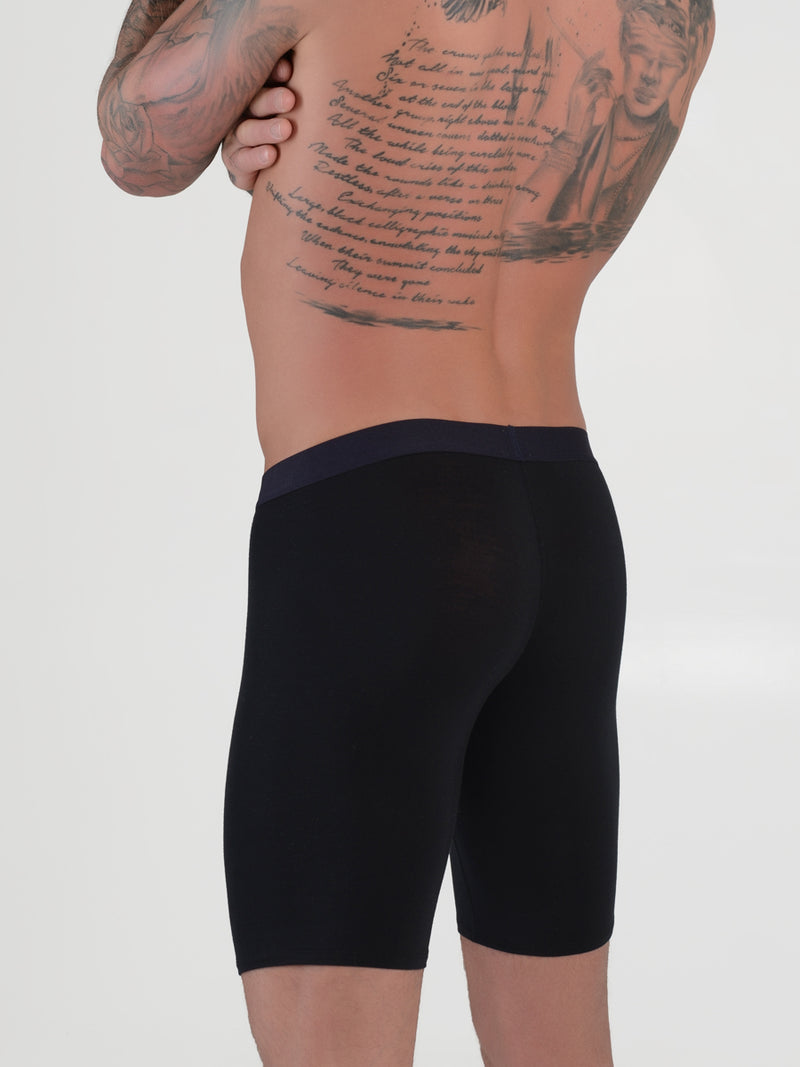 men's black modal logo band boxer briefs