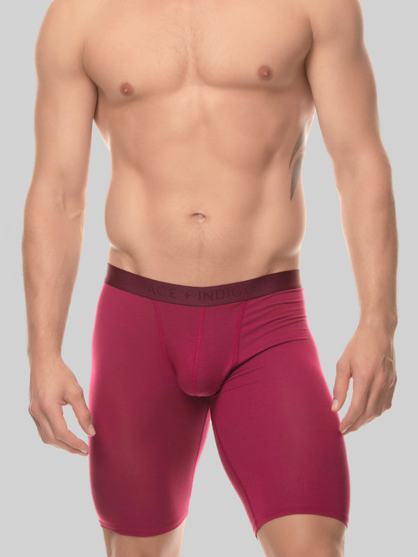 Men's red modal logo band boxer briefs