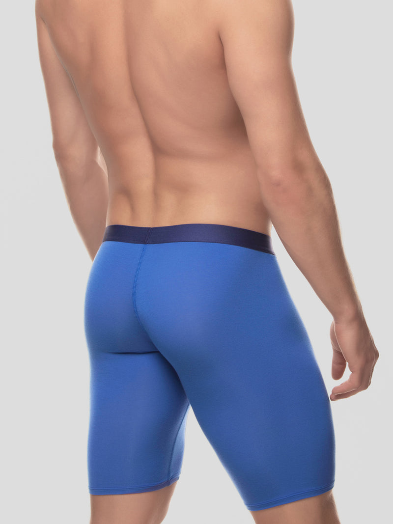 men's blue modal logo band boxer briefs