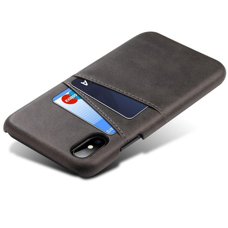 coque iphone porte carte noir