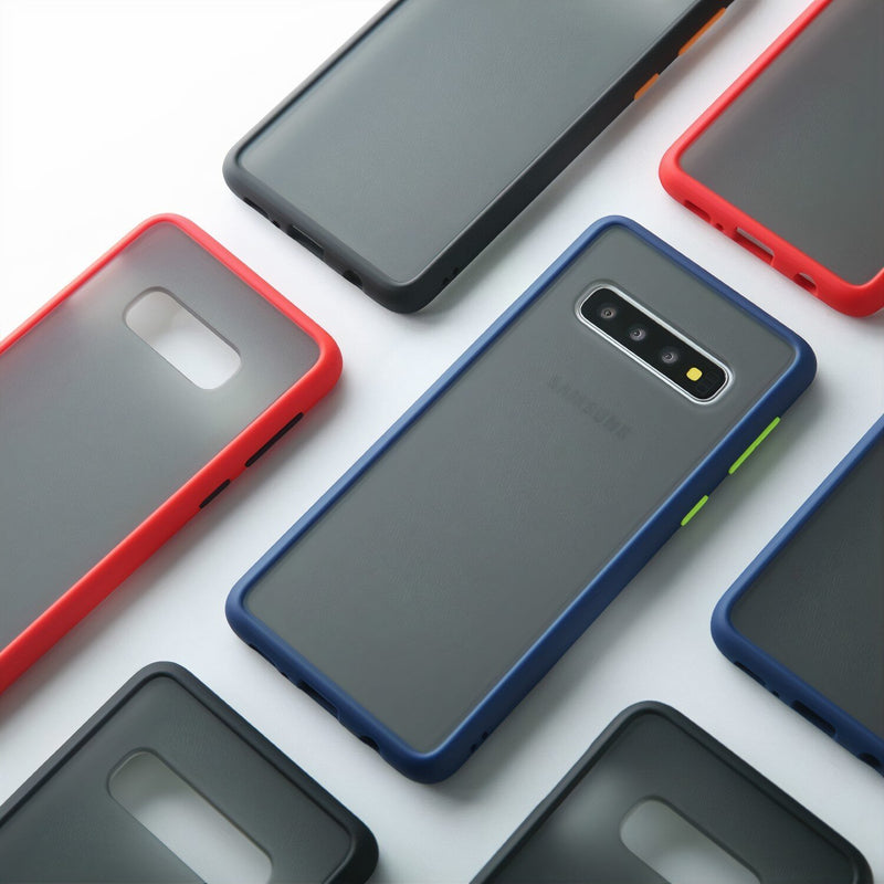 Matte Fitted Samsung Galaxy S Case with Interchangeable Buttons
