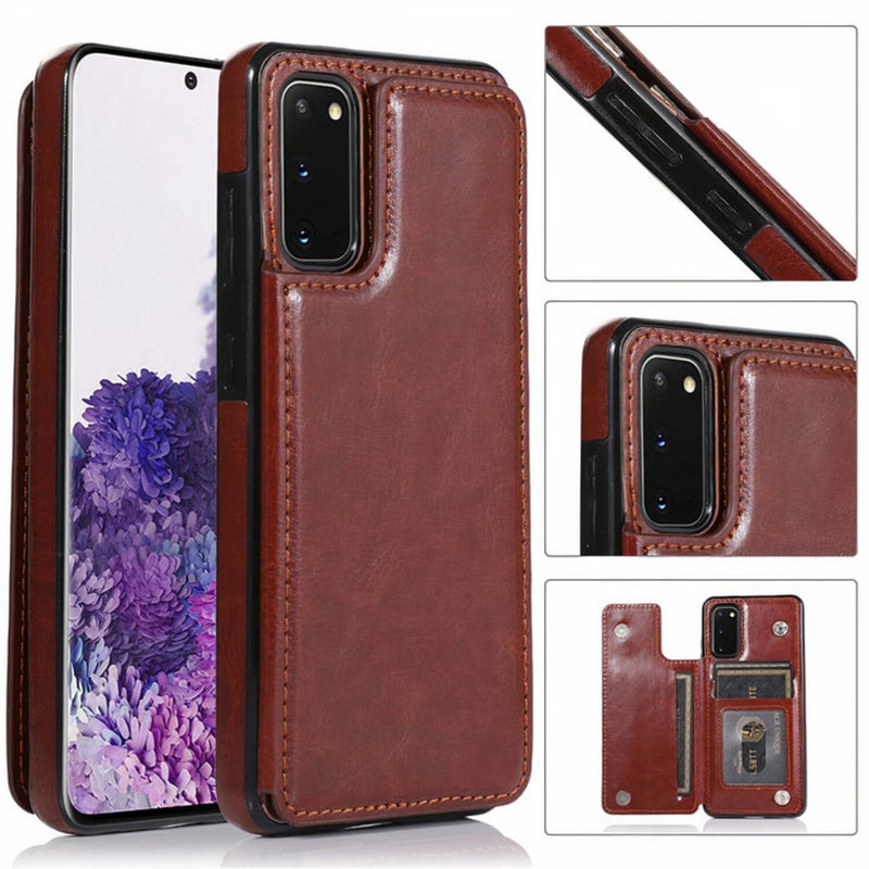 Samsung Galaxy S Leather Stand Wallet Case