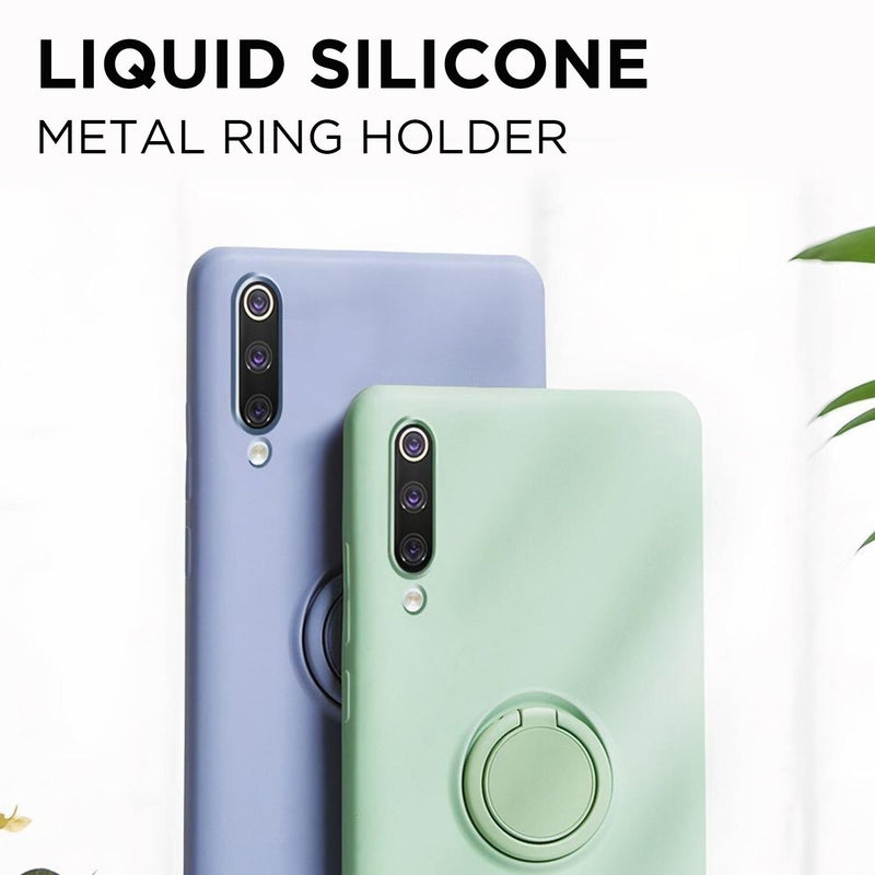 Soft Silicone Huawei P Case with Ring Stand