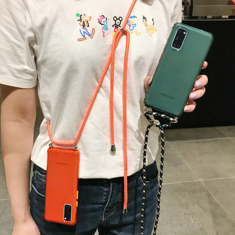 Colored Samsung Galaxy Note Case with Braided Lanyard Strap