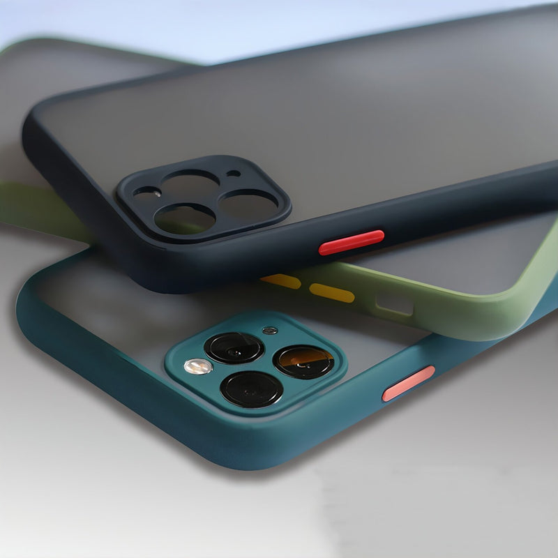 Matte Fitted iPhone Case with Interchangeable Buttons