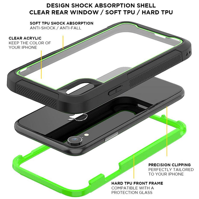 Shock Absorbing iPhone Housing with Front Protective Frame