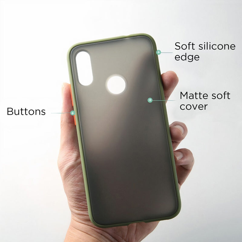 Matte Fitted Huawei P Case with Interchangeable Buttons