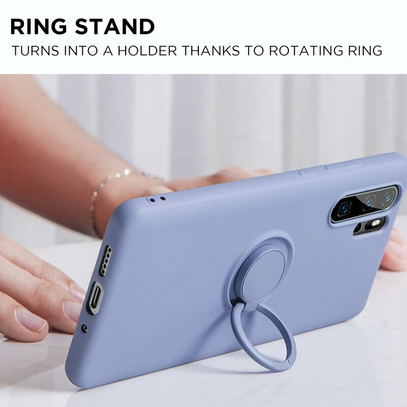Soft Silicone Samsung Galaxy Note Case with Ring Stand